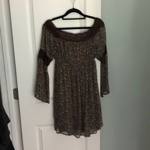 Judith March flare sleeve off the shoulder dress